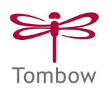 New Tombow Logo Vertical Red and Gray